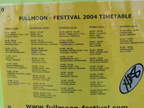 Full Moon Festival 2004 Timetable - Main stage