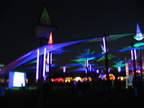 Night view of main stage area