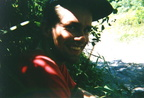 Martin resting on the way to Mt. Vulcan, Rabaul, East New Britain Province, PNG