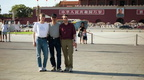014 Travel companions Sondre, Gunnar and Martin at the Tiananmen Square