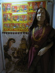 04305 Calcutta: Dummy wearing sari at the Indian Museum