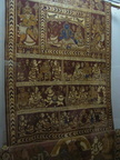 04306 Calcutta: Textile sample at the Indian Museum