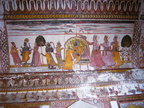 02515 Orchha: Ceiling painting of Raj Mahal & Assembly Hall at Orchha Fort