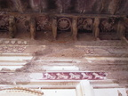 02614 Orchha: Detail of wall- and ceiling painting inside Lakshmi Narayan Temple