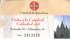 Catedral de Barcelona admission ticket